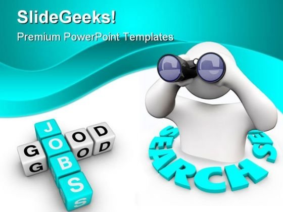 Search Good Jobs People PowerPoint Backgrounds And Templates 1210