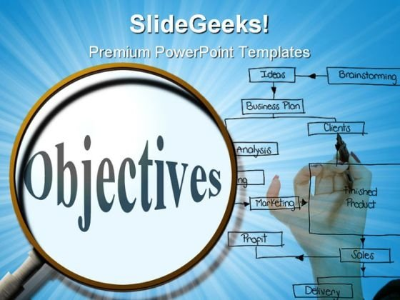 Search Objectives Business PowerPoint Templates And PowerPoint Backgrounds 0711