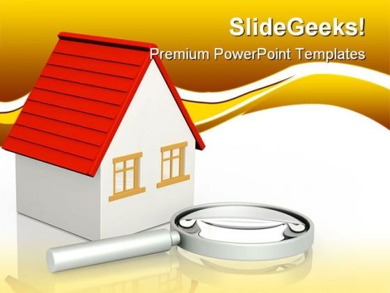 Search Of Home Real Estate PowerPoint Themes And PowerPoint Slides 0811