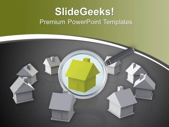 Search The Right Property For Investment PowerPoint Templates Ppt Backgrounds For Slides 0713