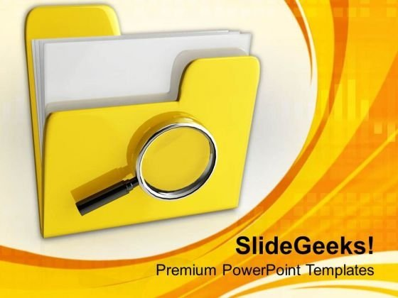Searching Files In A Folder PowerPoint Templates Ppt Backgrounds For Slides 0713