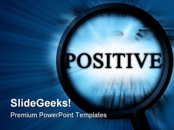 Searching Positive Metaphor PowerPoint Themes And PowerPoint Slides 0811