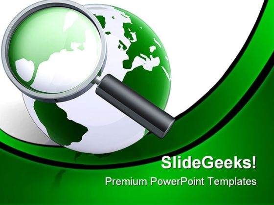 Searching The World Globe PowerPoint Themes And PowerPoint Slides 0411