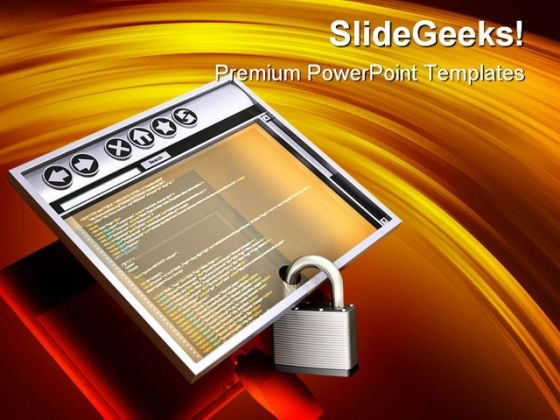 Secure Internet Browser Computer PowerPoint Themes And PowerPoint Slides 0811