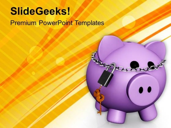 Secure Your Small Savings PowerPoint Templates Ppt Backgrounds For Slides 0413