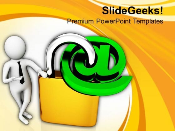 Secured Internet Connections PowerPoint Templates Ppt Backgrounds For Slides 0813