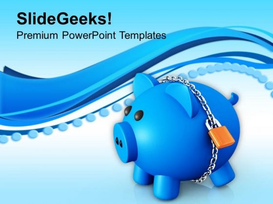 Security Protection Piggy Bank PowerPoint Templates Ppt Backgrounds For Slides 0213
