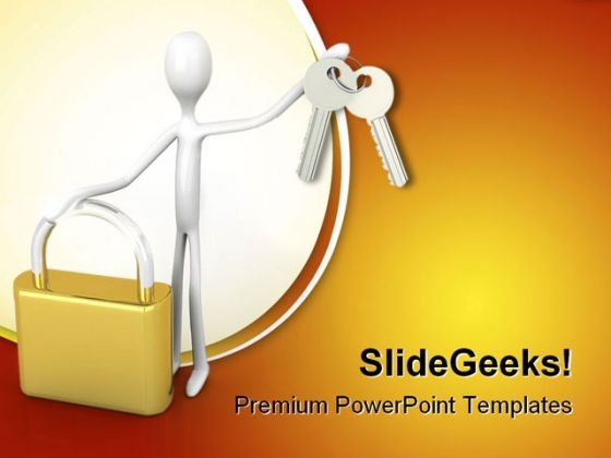 Security Solution Business PowerPoint Templates And PowerPoint Backgrounds 0211