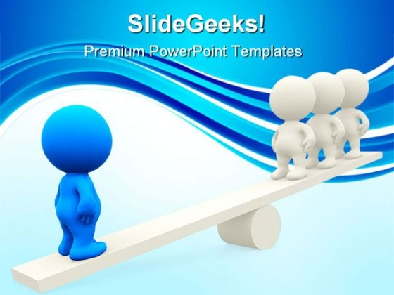 Seesaw Business Leadership PowerPoint Themes And PowerPoint Slides 0411