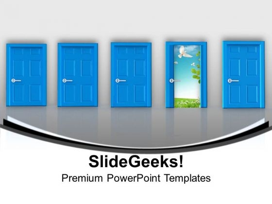 Selecting Ideal Door Is Important PowerPoint Templates Ppt Backgrounds For Slides 0713