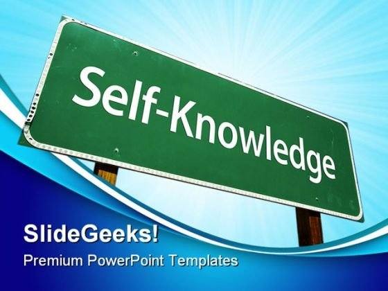 Self Knowledge Education PowerPoint Themes And PowerPoint Slides 0811