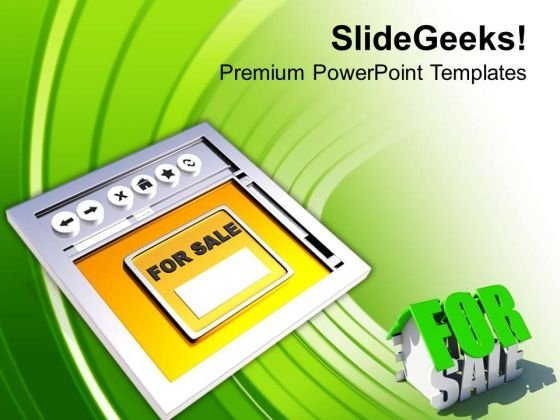 Sell House Online Internet Concept PowerPoint Templates Ppt Backgrounds For Slides 0513
