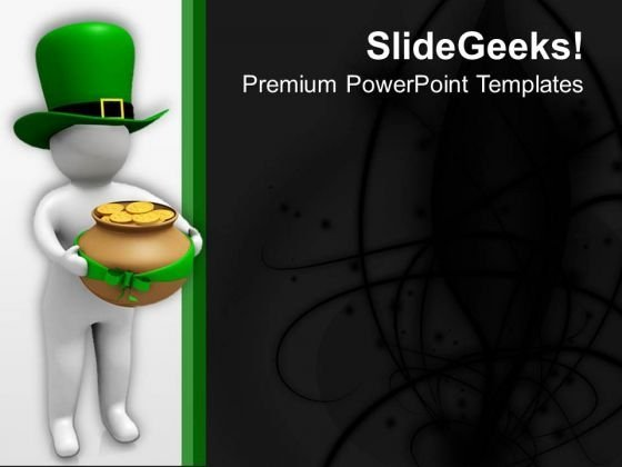 Send Wishes Of Patricks Day PowerPoint Templates Ppt Backgrounds For Slides 0713