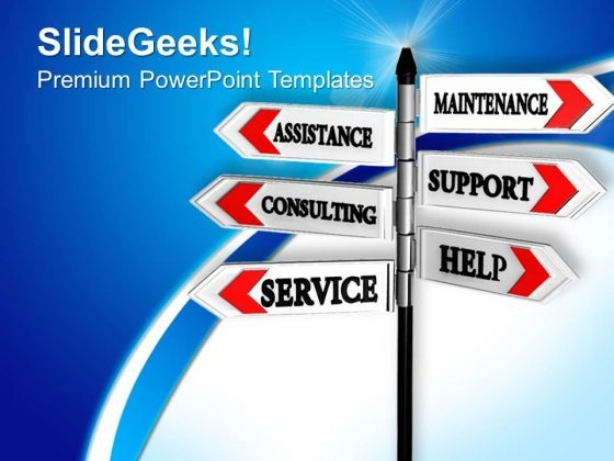 Service Support Assistance PowerPoint Templates And PowerPoint Themes 0912