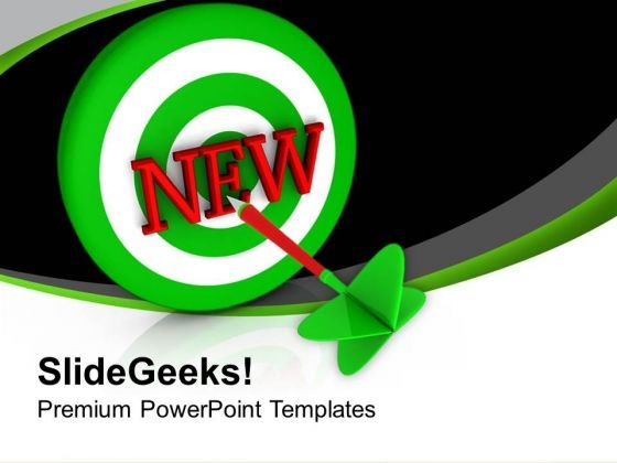 Set New Business Targets PowerPoint Templates Ppt Backgrounds For Slides 0713
