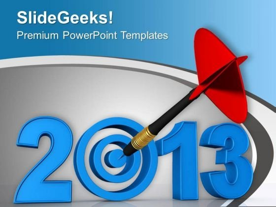 Set Target For Year 2013 PowerPoint Templates Ppt Backgrounds For Slides 0413