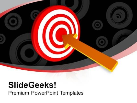Set Your Target For Business PowerPoint Templates Ppt Backgrounds For Slides 0413
