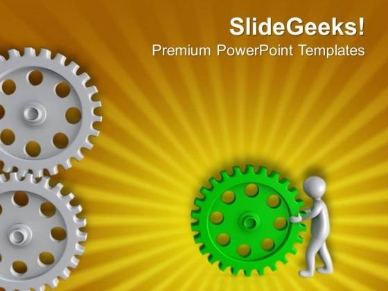Settle Problem With Right Solution Gear PowerPoint Templates Ppt Backgrounds For Slides 0713