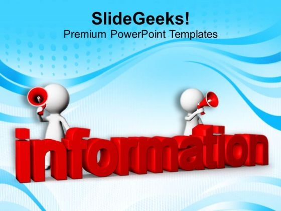 Share The Information PowerPoint Templates Ppt Backgrounds For Slides 0813