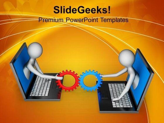 Sharing Information 3d Illustartion PowerPoint Templates Ppt Backgrounds For Slides 0813