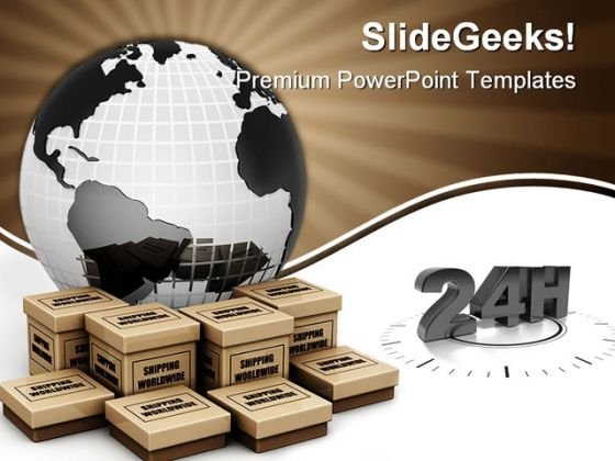 Shipping Worldwide Concept Globe PowerPoint Themes And PowerPoint Slides 0411