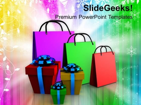 Shopping Bags And Gifts Beautiful PowerPoint Templates Ppt Backgrounds For Slides 1212