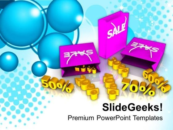Shopping Bags Sale PowerPoint Templates Ppt Backgrounds For Slides 0413