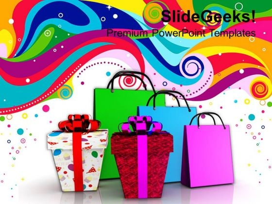 Shopping Bags With Gifts Festival PowerPoint Templates And PowerPoint Themes 1112