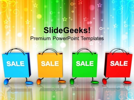 Shopping Bags With Sale Christmas PowerPoint Templates Ppt Background For Slides 1112