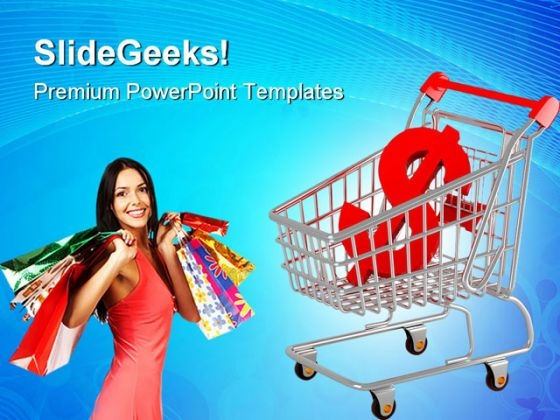 Shopping Cart With Dollar Sales PowerPoint Templates And PowerPoint Backgrounds 0311