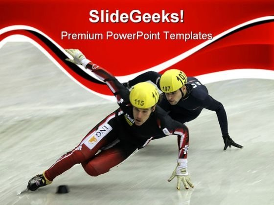 Short Track Sports PowerPoint Templates And PowerPoint Backgrounds 0611