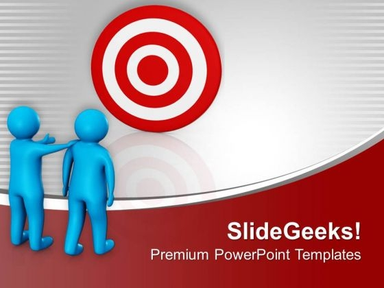 Show Targets To Your Teammates PowerPoint Templates Ppt Backgrounds For Slides 0713