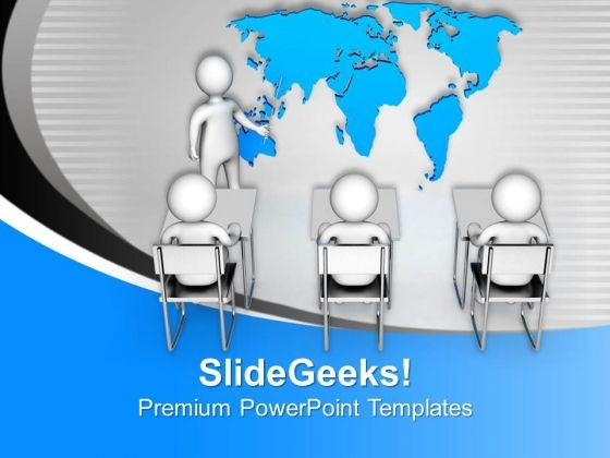 Show The Global Review Of Business PowerPoint Templates Ppt Backgrounds For Slides 0713