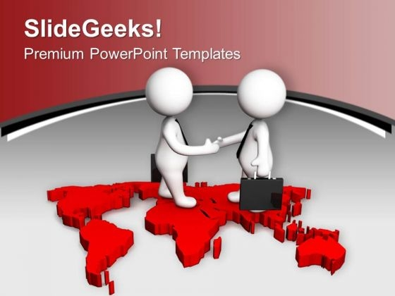 Signed Business Deal For Global Success PowerPoint Templates Ppt Backgrounds For Slides 0313