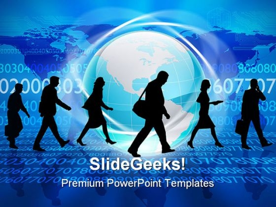 Silhouettes Of People Global PowerPoint Templates And PowerPoint Backgrounds 0211