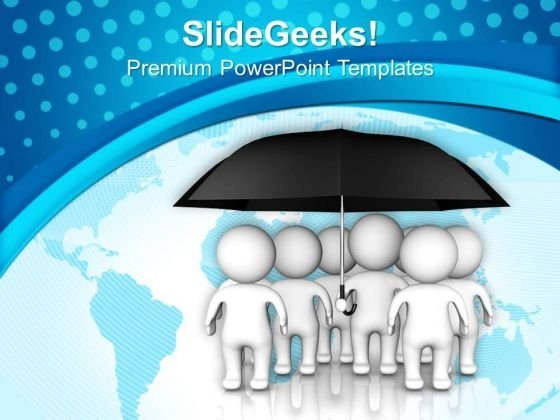 Single Cover Protect People Globaly Insurance PowerPoint Templates Ppt Backgrounds For Slides 0413