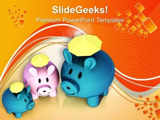 Small Savings Converted Into Big Savings PowerPoint Templates Ppt Backgrounds For Slides 0613
