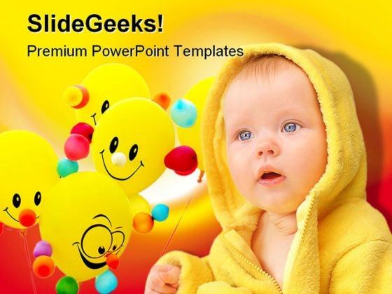Smiley Child Baby PowerPoint Themes And PowerPoint Slides 0411