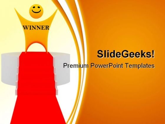 Smiley Winner Success PowerPoint Templates And PowerPoint Backgrounds 0211