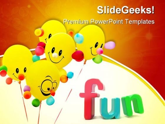 Smiling Colorful Balloon Entertainment PowerPoint Themes And PowerPoint Slides 0411