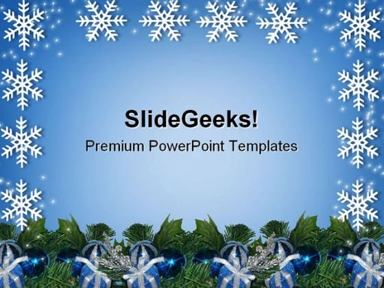 Snowflakes Christmas Festival PowerPoint Templates And PowerPoint Backgrounds 0611