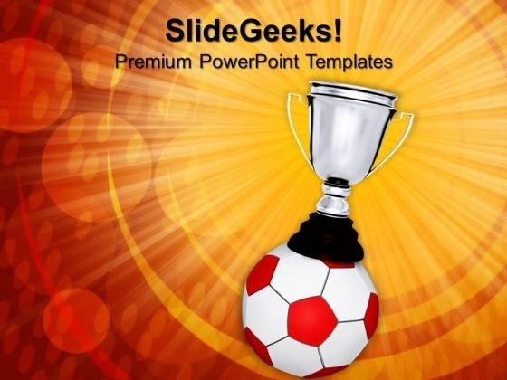 Soccer Ball Trophy Sports PowerPoint Templates And PowerPoint Themes 0912