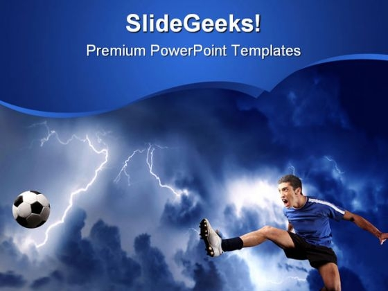 Soccer Player Sports PowerPoint Template 0610