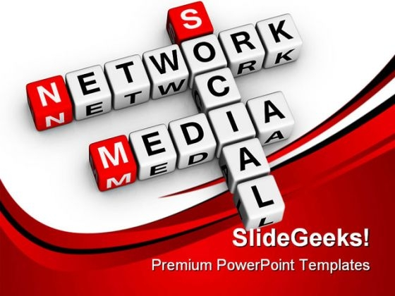 Social Media Network Communication PowerPoint Themes And PowerPoint Slides 0411