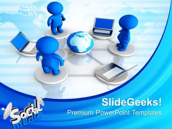 Social Media Networking Communication PowerPoint Templates And PowerPoint Themes 0812