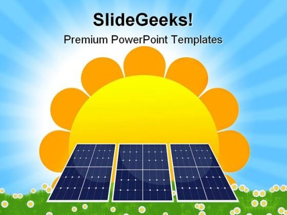 solar panel powerpoint templates, slides and graphics, Powerpoint templates