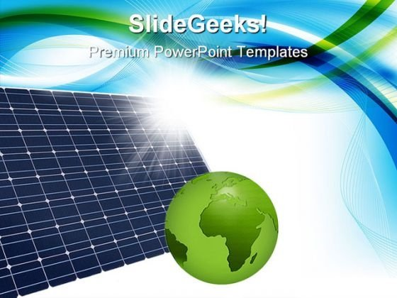 Solar Panel Global PowerPoint Templates And PowerPoint Backgrounds 0211