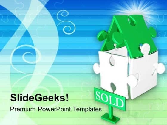 Sold Home Real Estate PowerPoint Templates Ppt Backgrounds For Slides 0213