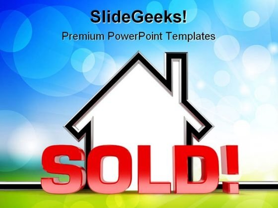Sold Home Realestate PowerPoint Backgrounds And Templates 1210