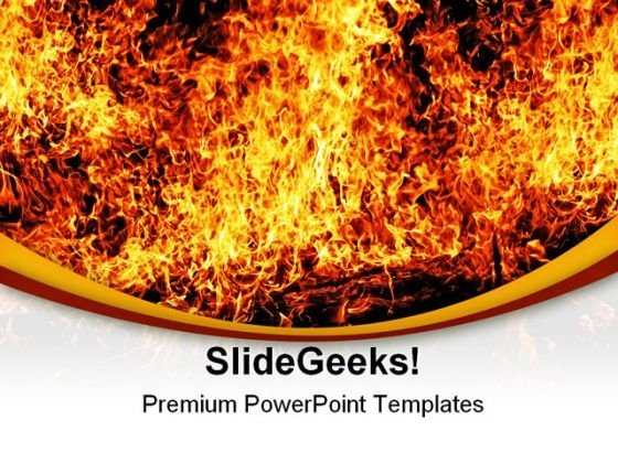 Solid Fire Religion PowerPoint Themes And PowerPoint Slides 0411